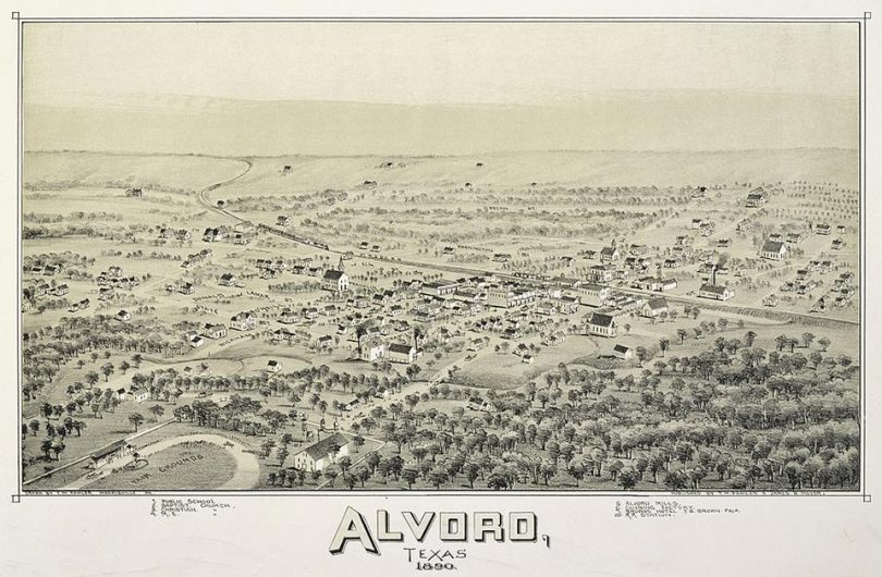 Old map of Alvord -1890