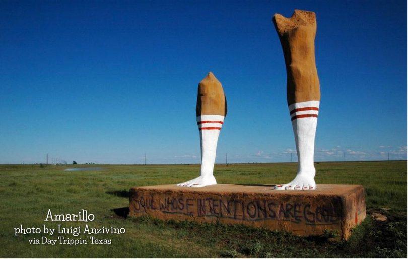 Amarillo, Giant Legs by Luigi Anzivino