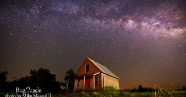 Bug Tussle with Milky Way by Mike Mezeul II
