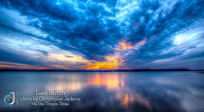 Lake Belton sunset by Christopher Jackson