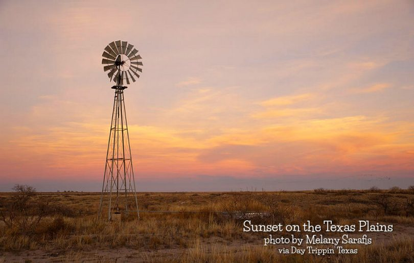 Sunset over Texas Plains by Melany Sarafis