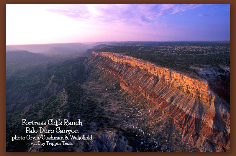 Fortress Cliffs Ranch, Palo Duro by Orvis Cushman & Wakefield