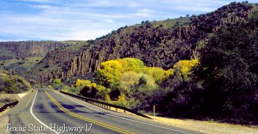 Highway 17 in West Texas by Chris Vreeland