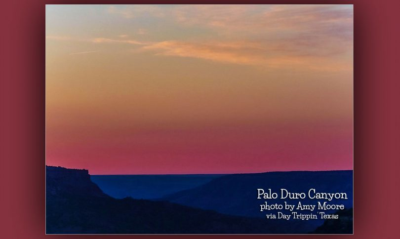 Palo Duro Canyon at sunrise by Amy Moore