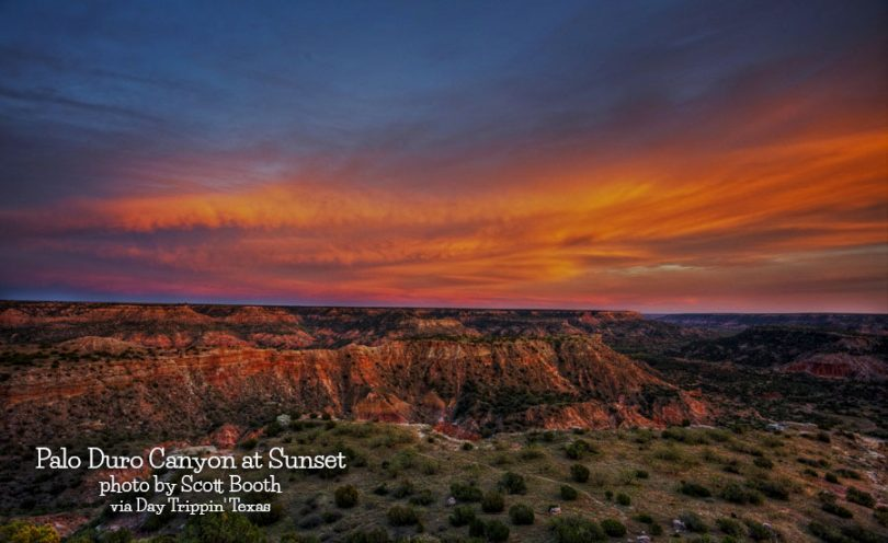 Palo Duro Canyon sunset by Scott Booth