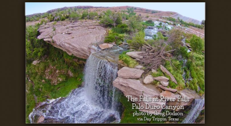 The Falls at River Fall by Palo Duro by Greg Dodson