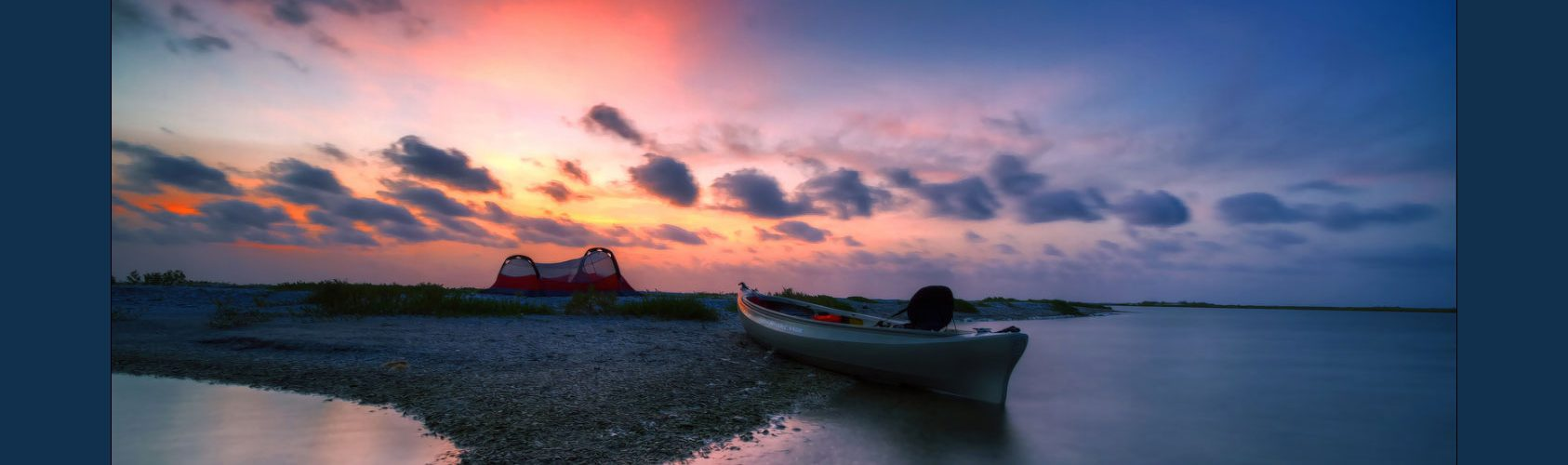 Aransas camping at sunrise by Eduardo Muriedas