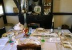 Dining table at Steinbach House in Castroville